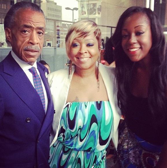 Rev. Al Sharpton, TVone's R&B Divas ATL star Monifah and Sharpton Entertainment LLC Co Founder Dominique Sharpton