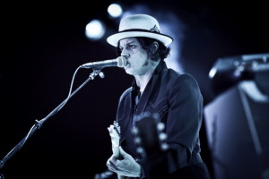The American musician, record producer, multi-instrumentalist and singer-songwriter Jack White is here seen at Orange Stage at Roskilde Festival 2012. Denmark 2012.